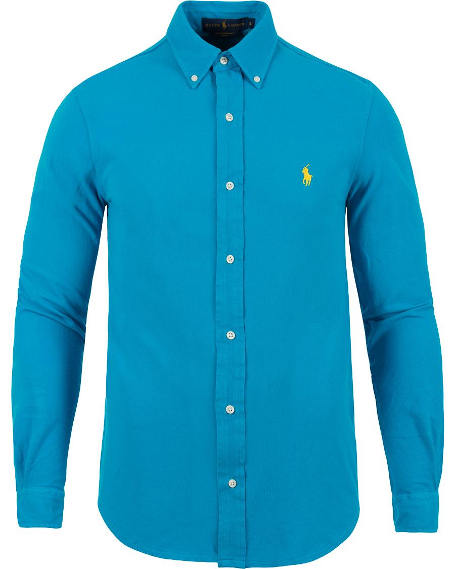 Polo ralph lauren featherweight jersey shirt atomic blue for Ralph lauren polo jersey shirt