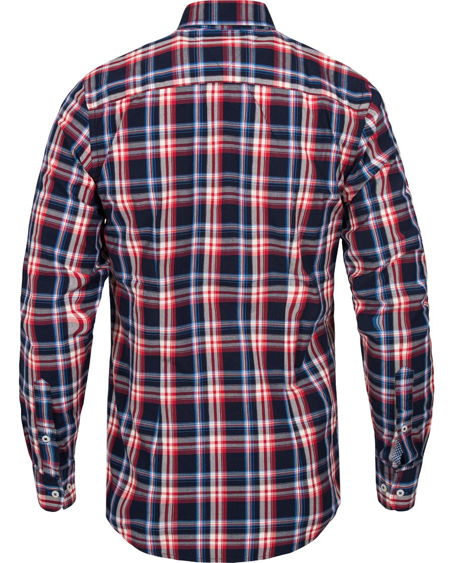 Tommy hilfiger lance slim fit check shirt evening blue hos for Slim fit check shirt