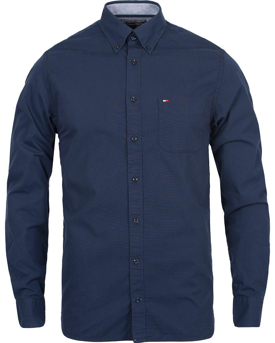 Tommy hilfiger classic poplin new york fit shirt peacoat for Tommy hilfiger vintage fit shirt