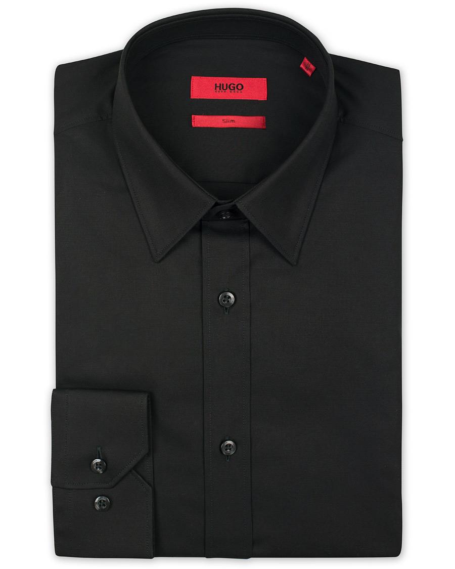 Hugo Elisha Slim Fit Shirt Black Hos