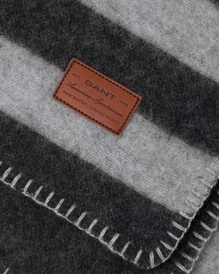 gant home wool union plaid antracite hos. Black Bedroom Furniture Sets. Home Design Ideas