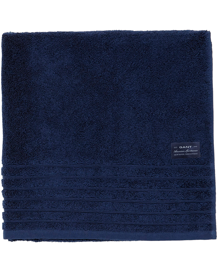 gant home solid terry 70x140 towel midnight blue hos. Black Bedroom Furniture Sets. Home Design Ideas