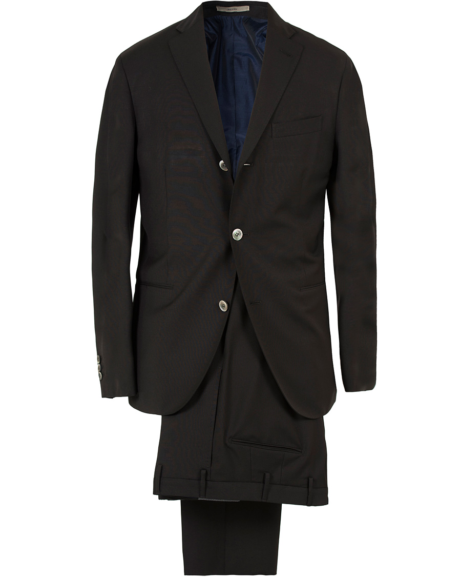 Product Features Black Two Button Three Piece Notch Lapel Suit High Quality Fabric Wool Touch.