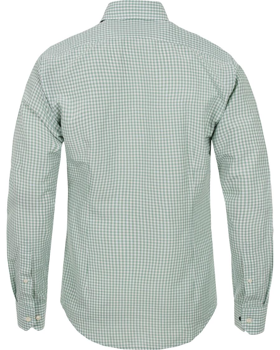 Eton Slim Fit Green Ribbon Linen Shirt Green White Hos