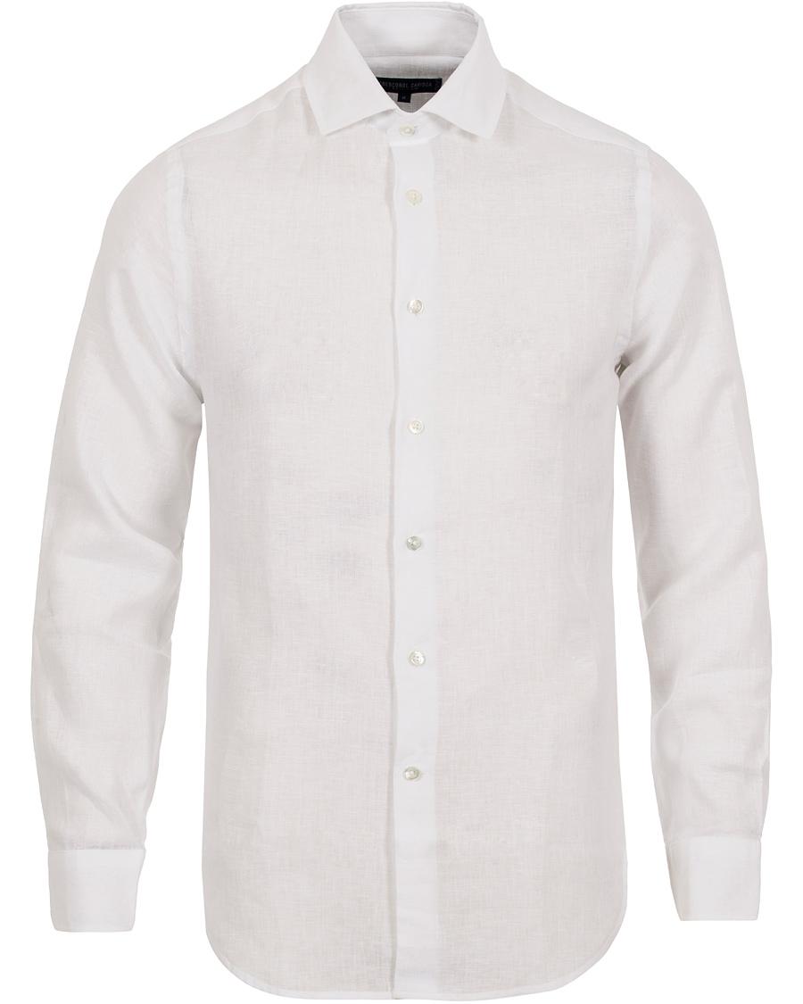 Frescobol Carioca Fine Italian Linen Slim Fit Shirt White