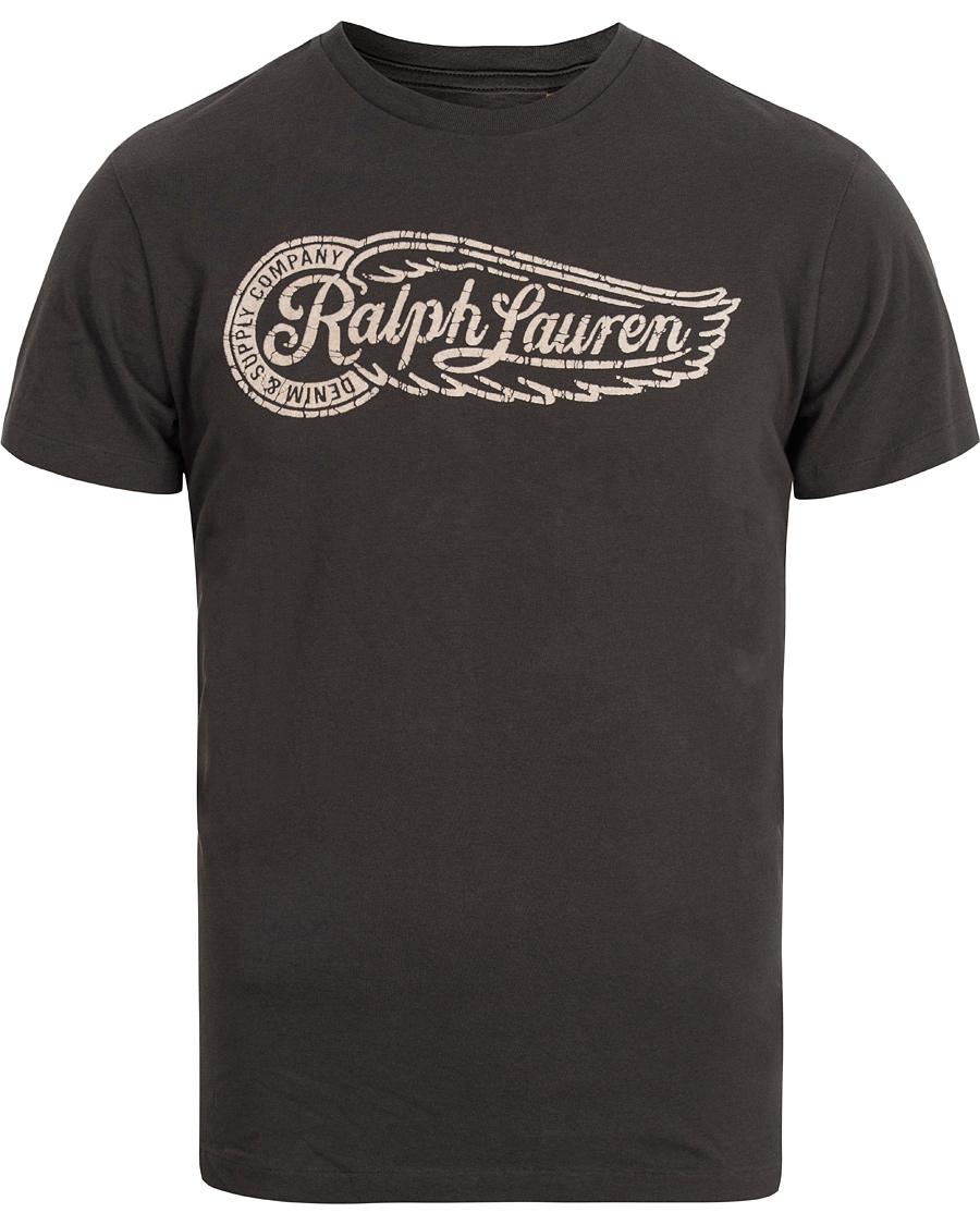 Denim supply ralph lauren rl logo tee faded black hos careofcar for Ralph lauren logo shirt
