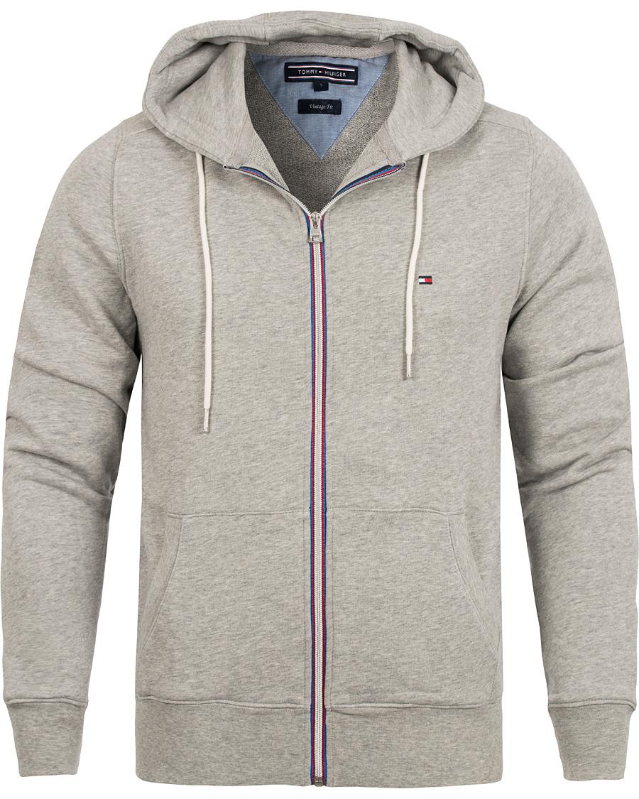 tommy hilfiger basic zip hoodie cloud heather hos. Black Bedroom Furniture Sets. Home Design Ideas