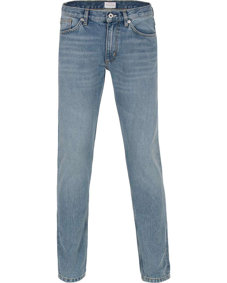 gant rugger ean tapered slim fit jeans semi light blue hos careof. Black Bedroom Furniture Sets. Home Design Ideas