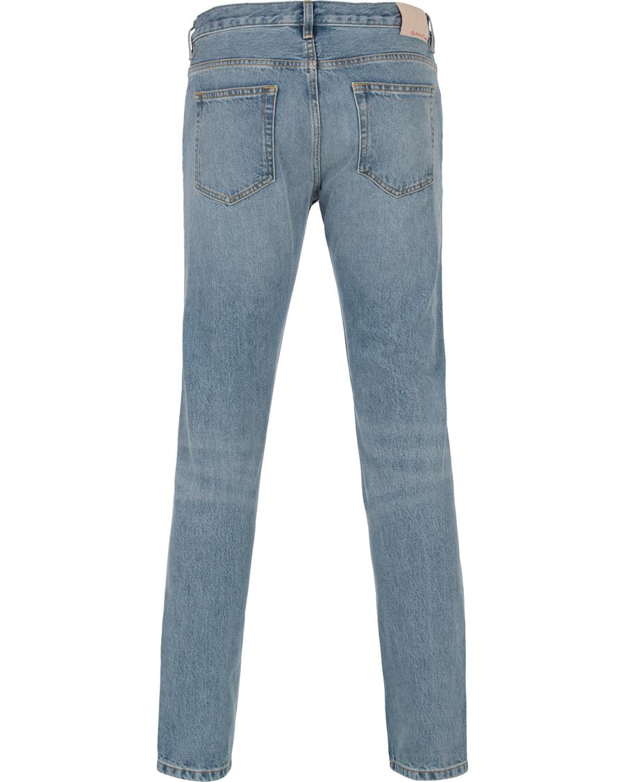 gant rugger ean tapered slim fit jeans semi light blue hos. Black Bedroom Furniture Sets. Home Design Ideas