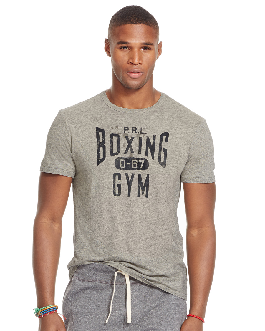 Polo ralph lauren custom fit boxing printed tee flatiron for Custom boxing t shirts