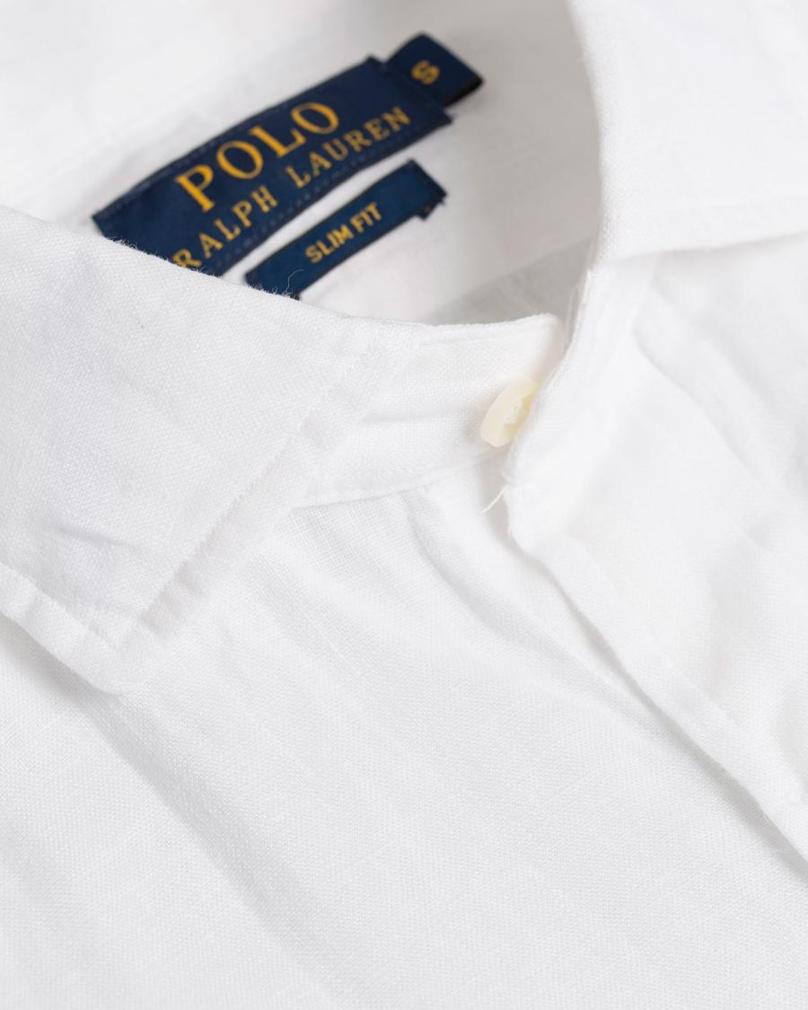 Polo Ralph Lauren Slim Fit Linen Estate Shirt White Hos