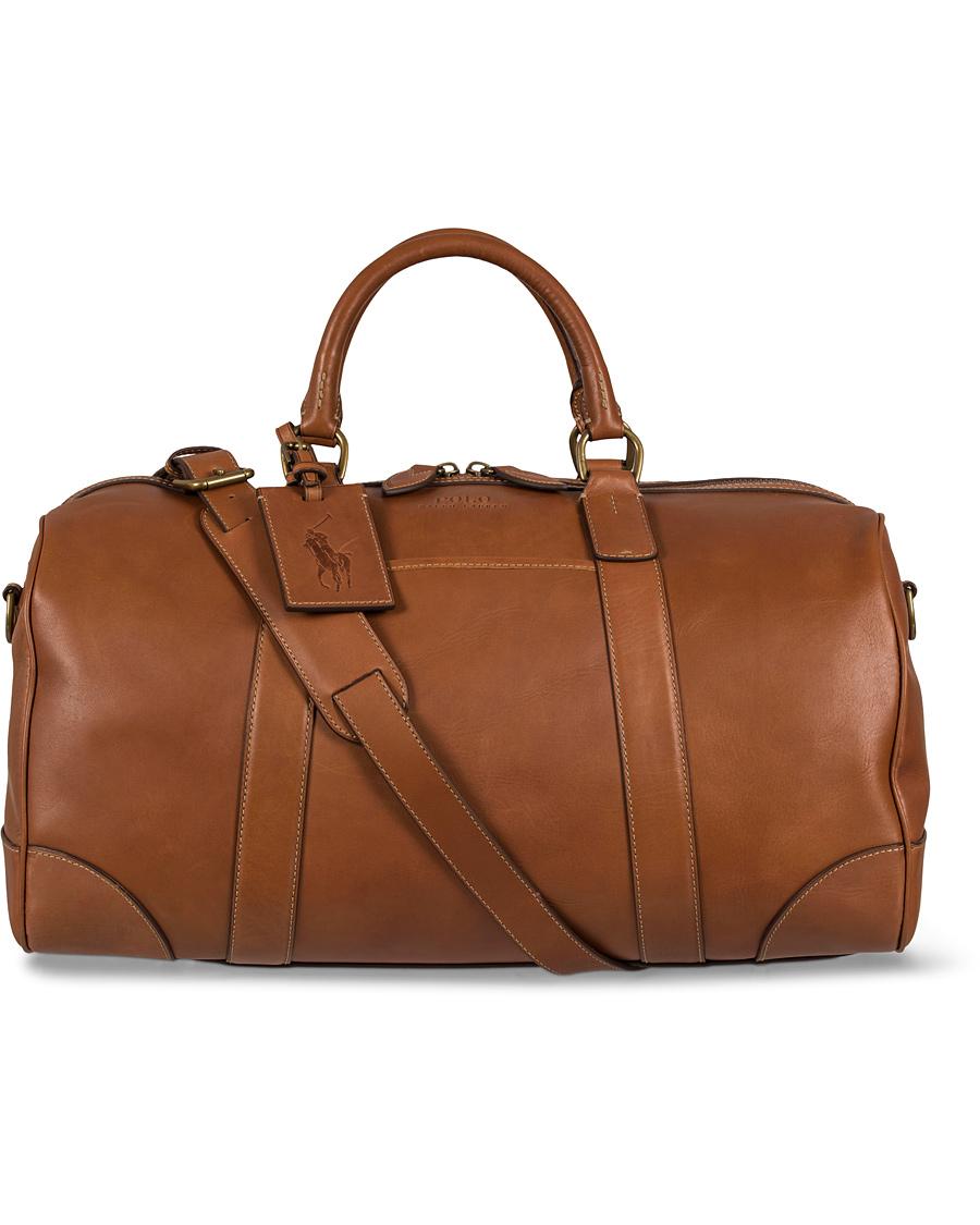 Polo Ralph Lauren Duffle Leather Bag Cognac