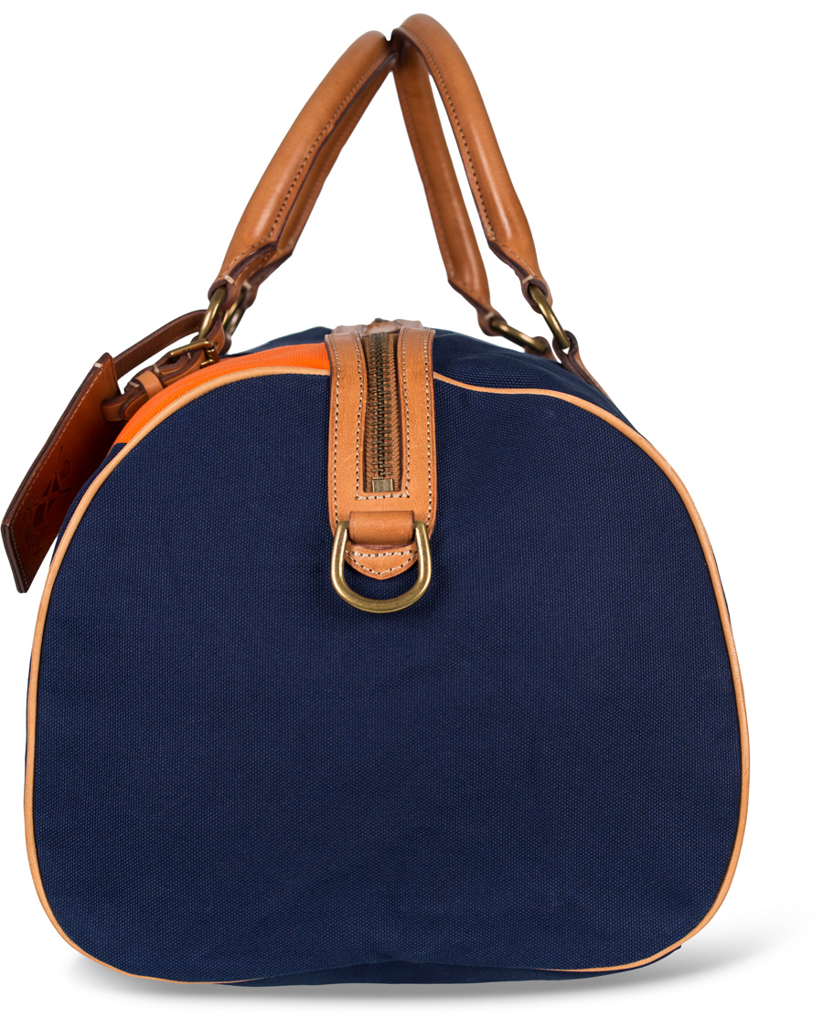 5166442bba ... sweden polo ralph lauren regatta duffle canvas bag orange navy fcedc  86fde