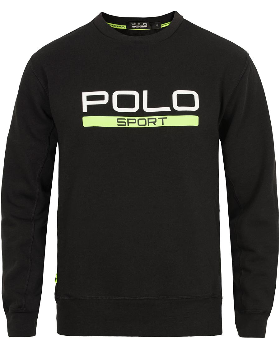 polo sport ralph lauren fleece logo sweatshirt polo black