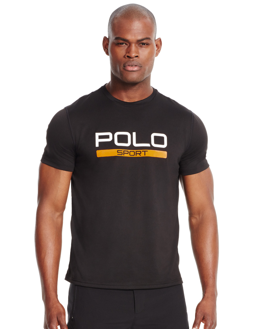 polo sport ralph lauren performance logo tee polo black