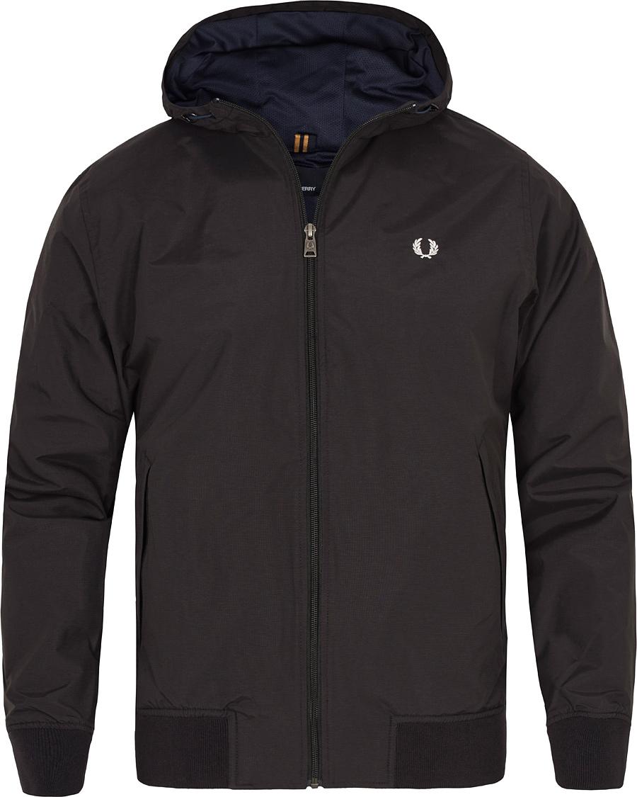 fred perry summer hoodie brentham jacket black hos. Black Bedroom Furniture Sets. Home Design Ideas