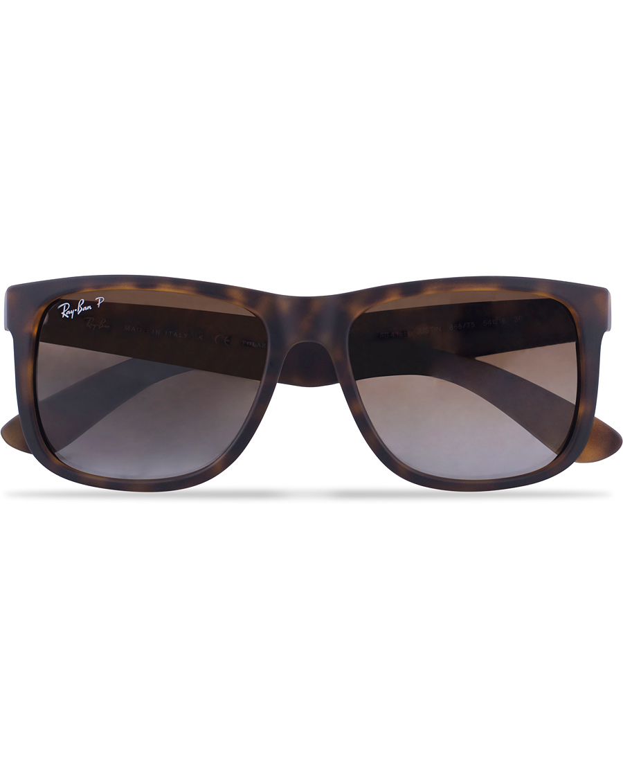 ray ban 0rb4165 justin polarized wayfarer sunglasses havana brown. Black Bedroom Furniture Sets. Home Design Ideas