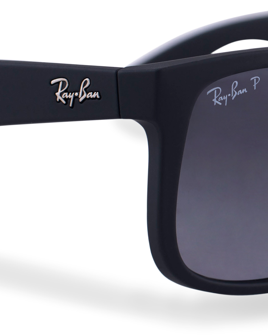 ray ban 0rb4165 justin polarized wayfarer sunglasses black. Black Bedroom Furniture Sets. Home Design Ideas