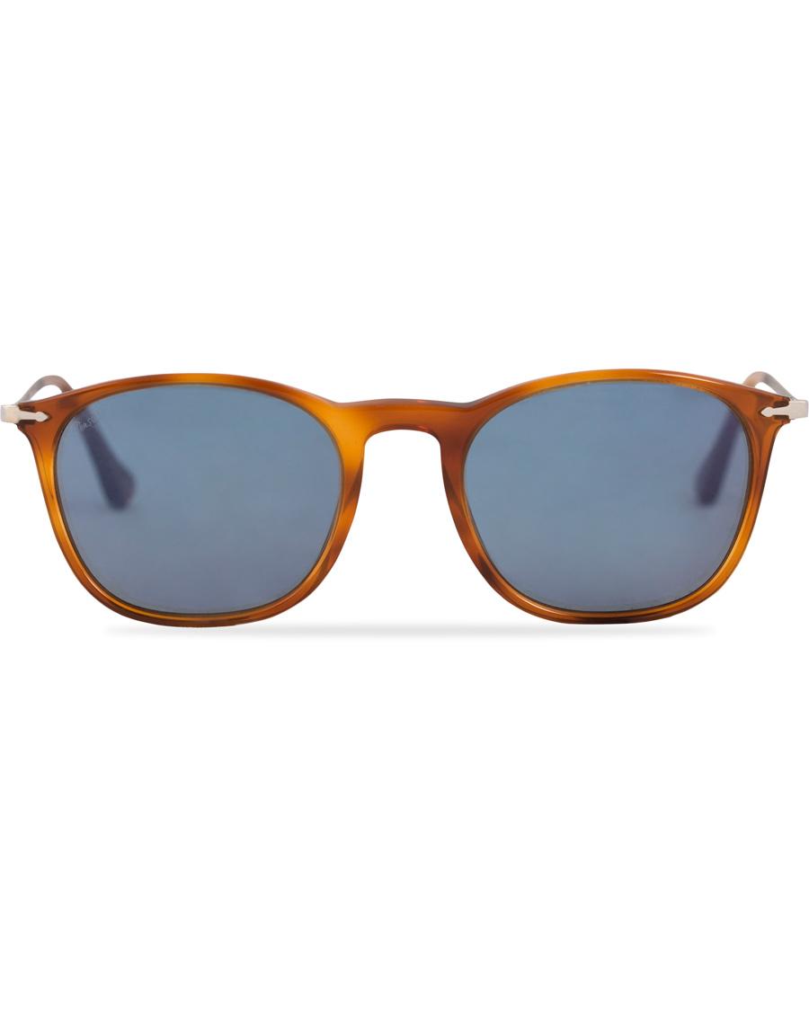 Persol 0PO3124S Round Sunglasses Light Havana Silver Mirror hos 027eb09f0ff5