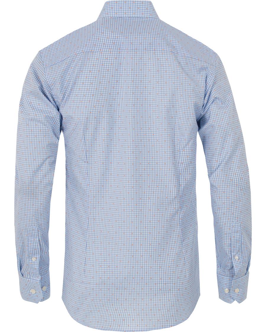 Eton slim fit check shirt blue hos for Slim fit check shirt
