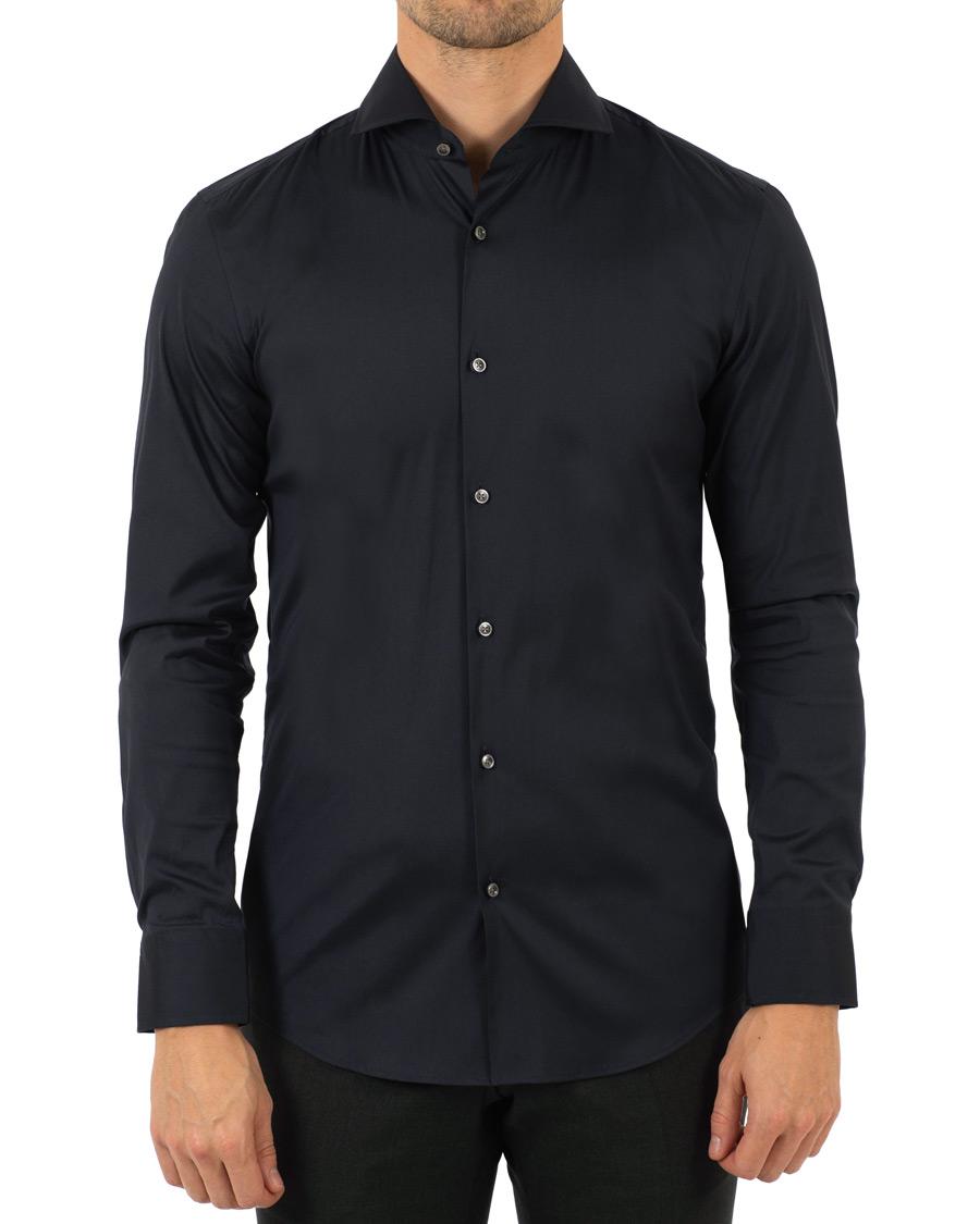 Boss jason slim fit stretch shirt navy hos for Navy slim fit shirt