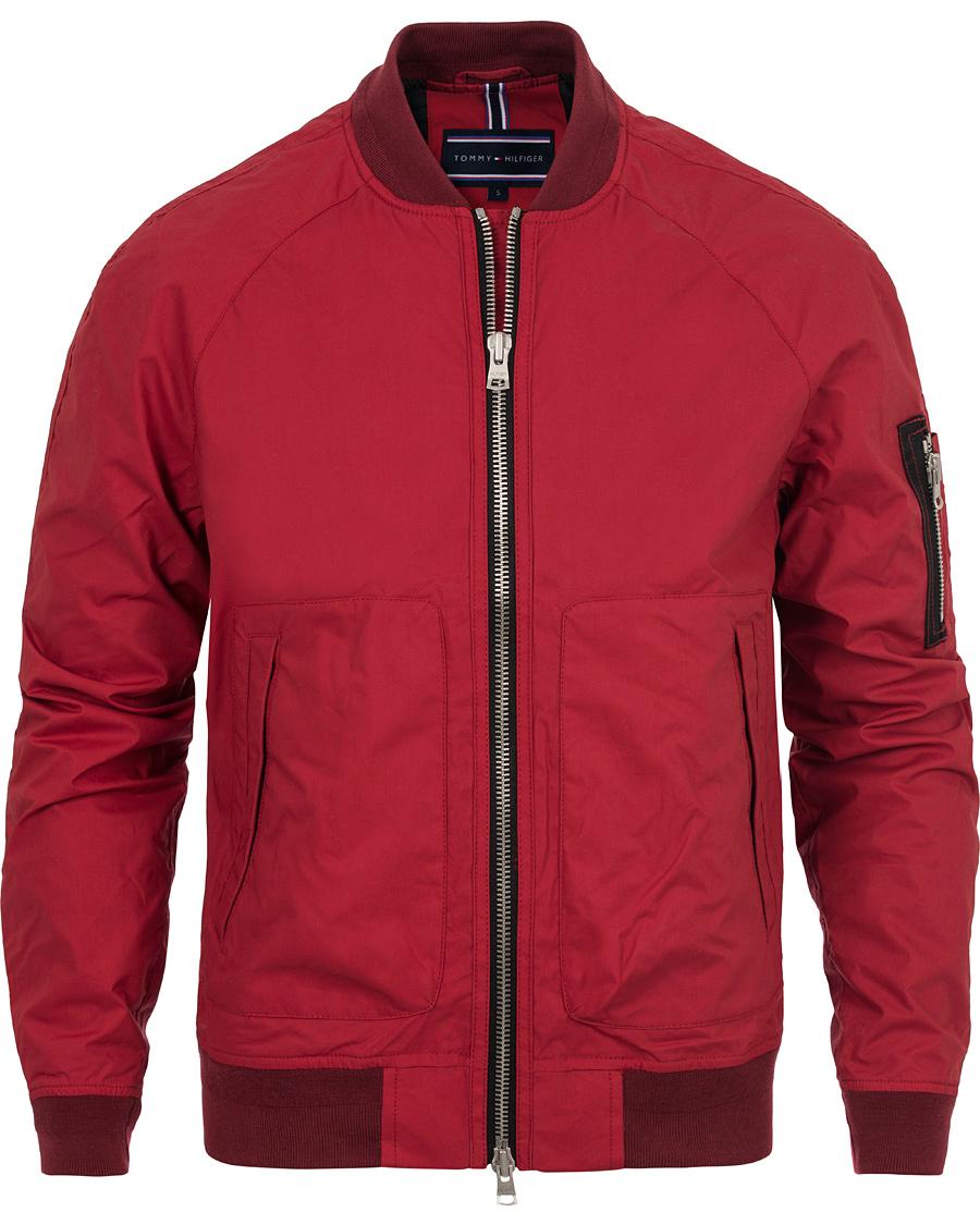 tommy hilfiger colton bomber jacket chilli pepper red hos. Black Bedroom Furniture Sets. Home Design Ideas