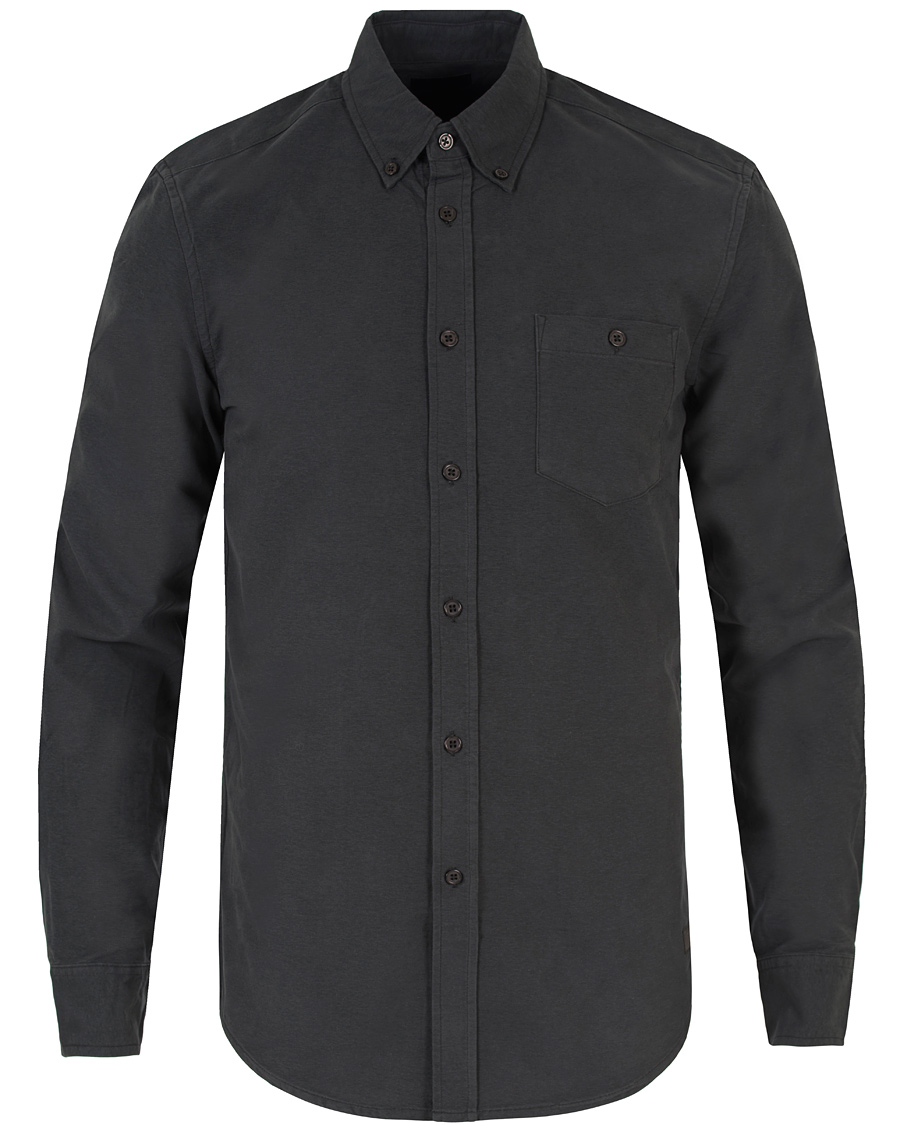 Tiger of sweden jeans rise button down oxford shirt black for Black oxford button down shirt