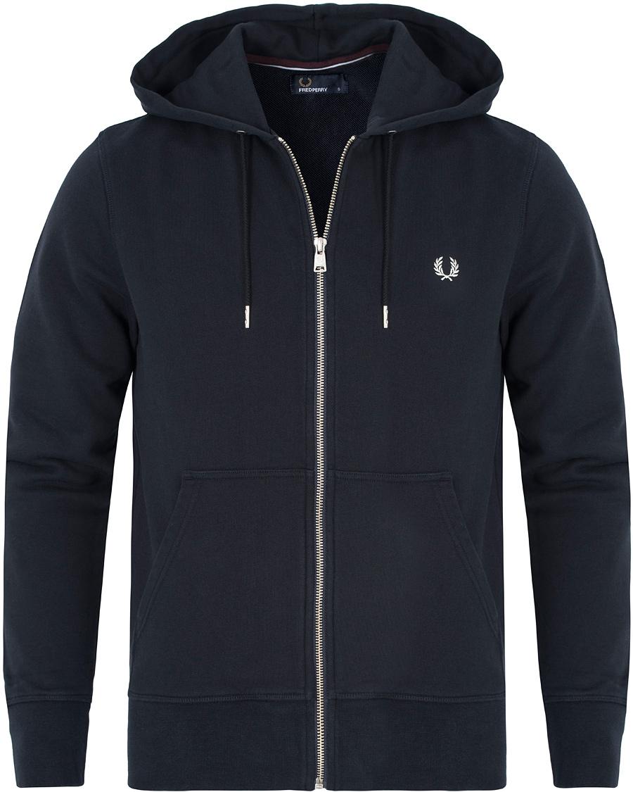 fred perry loopback hoodie sweat navy hos. Black Bedroom Furniture Sets. Home Design Ideas