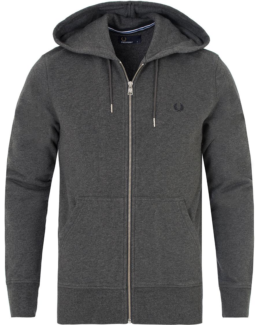 fred perry loopback hoodie sweat graphite marl hos. Black Bedroom Furniture Sets. Home Design Ideas