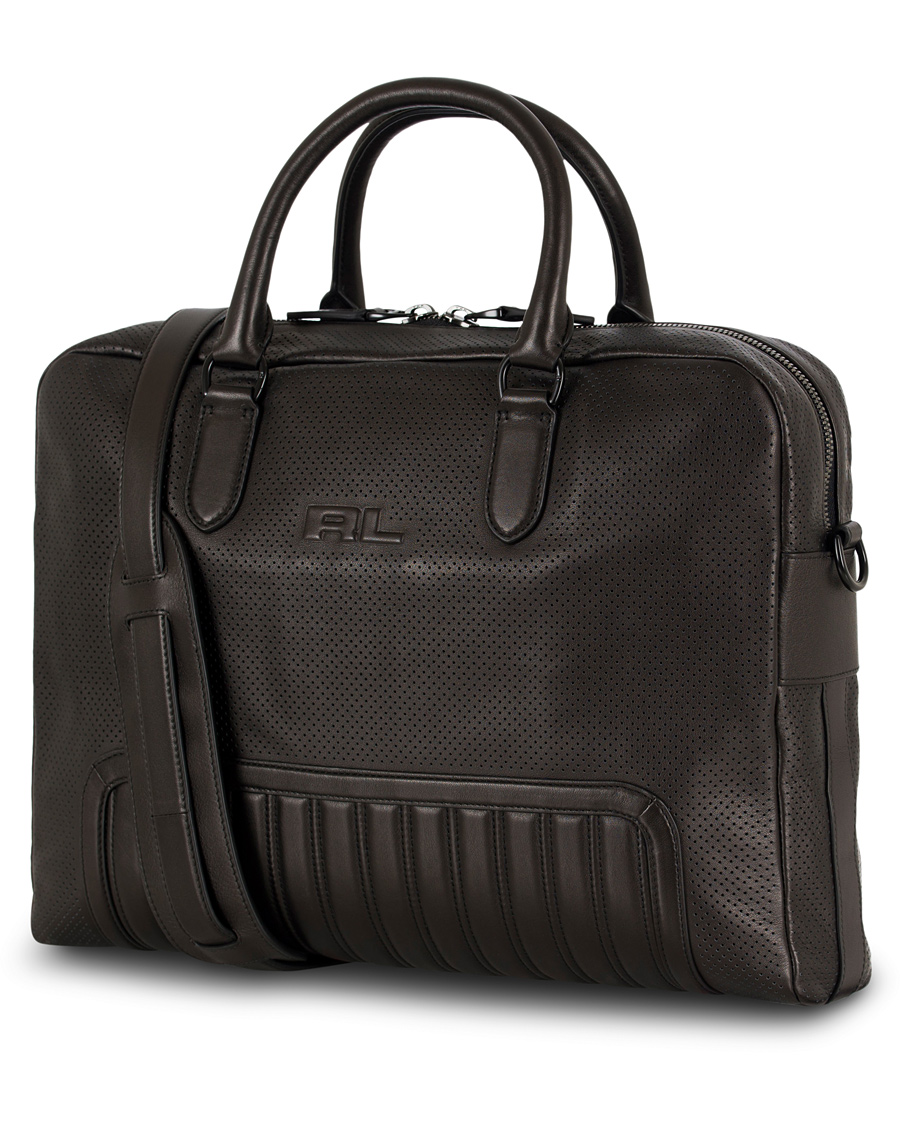 Ralph Lauren Purple Label Whale Briefcase Quilted Detail Black Calf ... a4d98f3c4a500