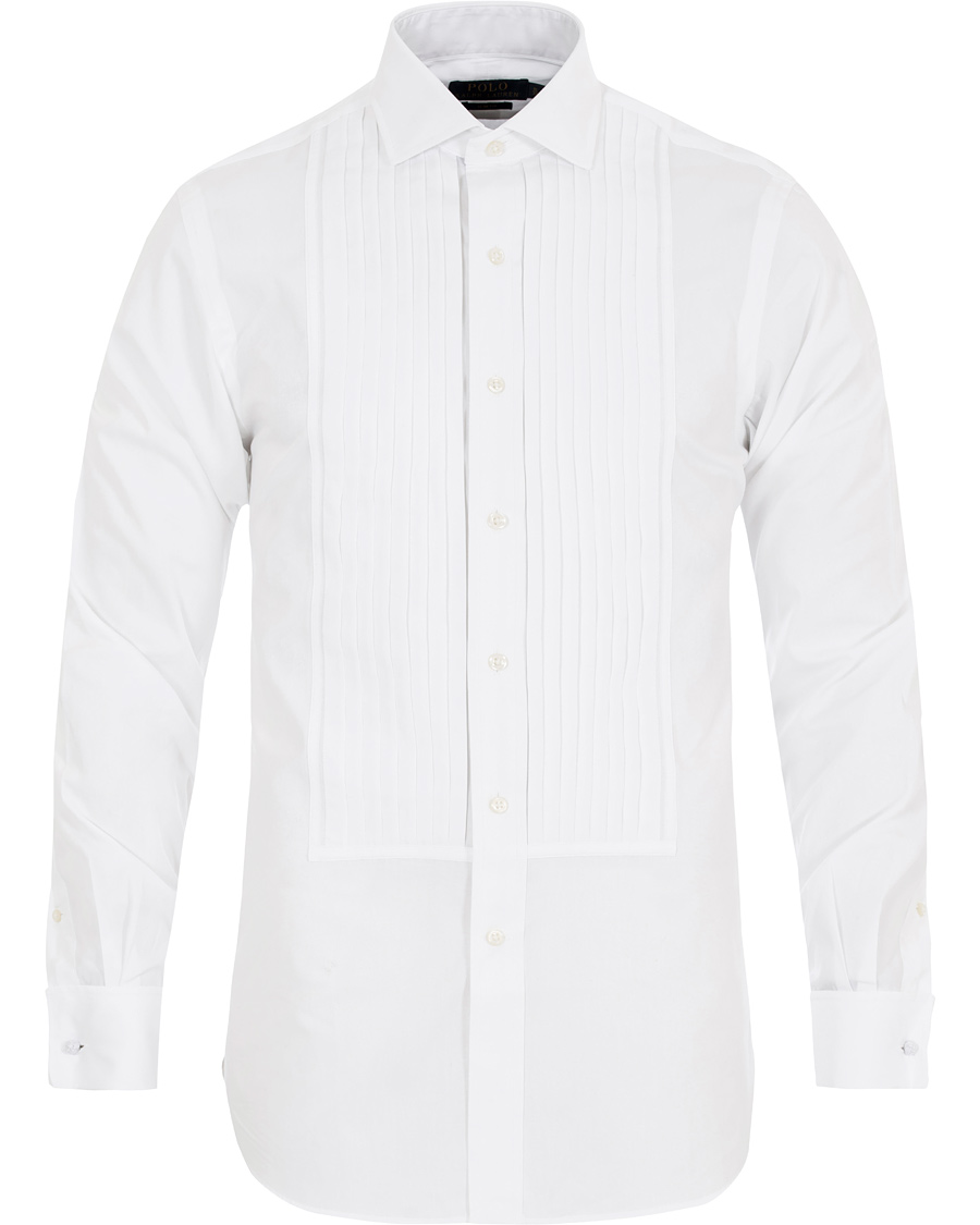 Polo Ralph Lauren Slim Fit Estate Tuxedo Shirt White Hos