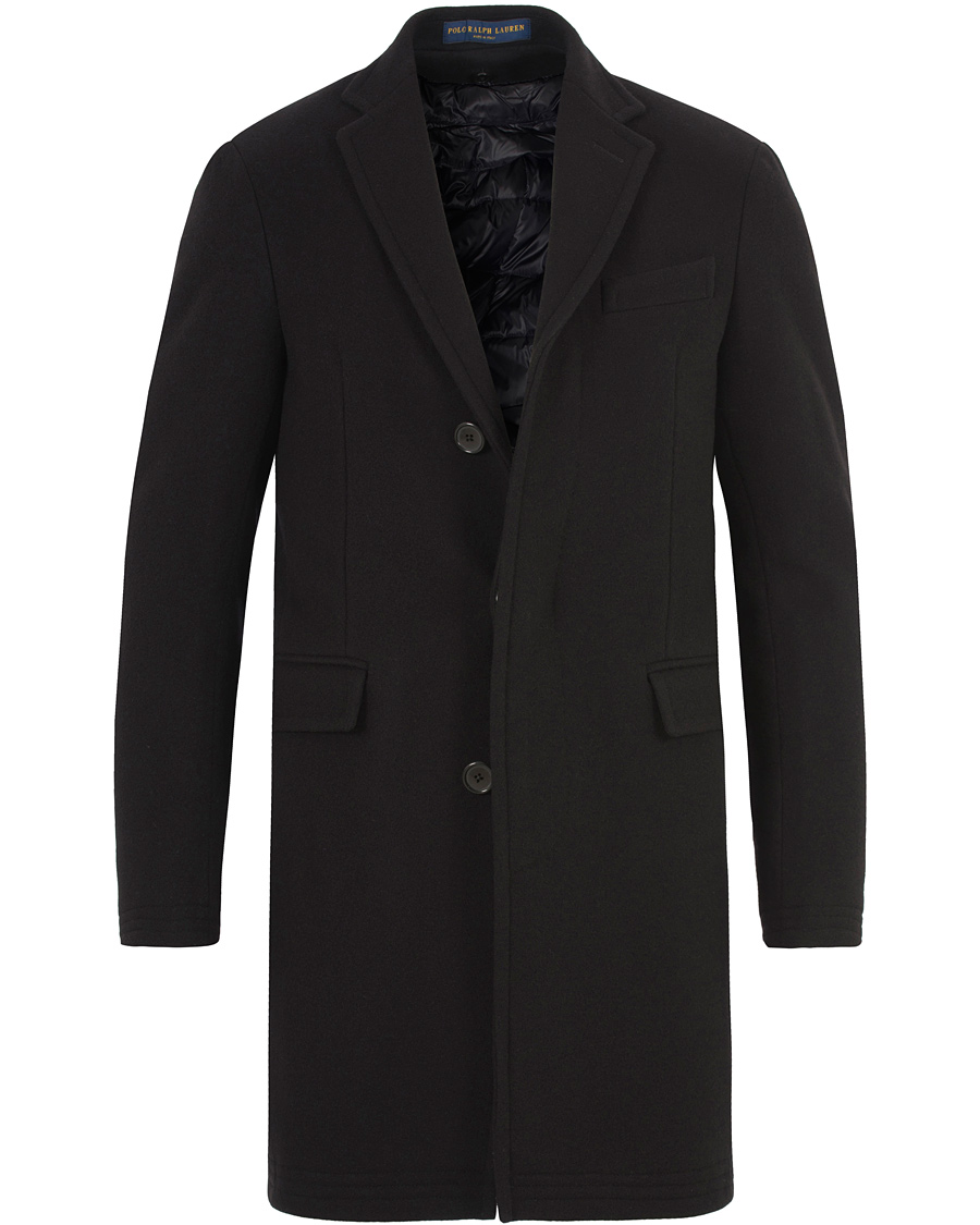 Polo ralph lauren clothing solid melton wool top coat for Best wool shirt jackets