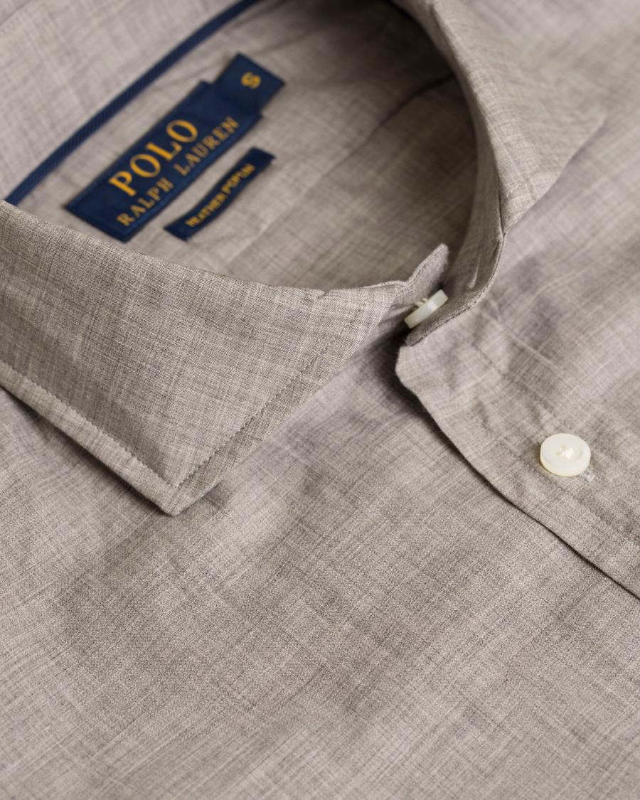 902eeb783 Polo Ralph Lauren Cut Away Poplin Shirt Heather Grey hos CareOfCa
