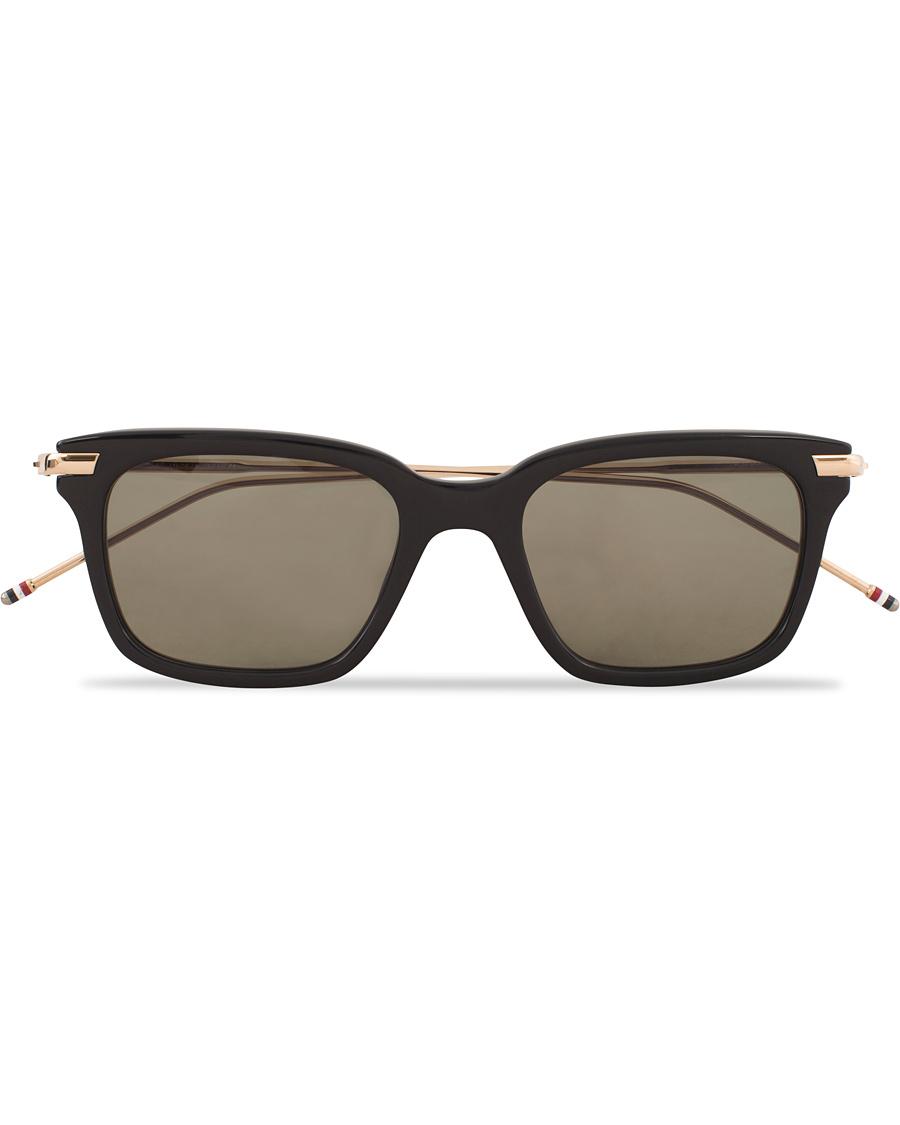 992561a3e15f Thom Browne TB-701 Sunglasses Black Gold Metal hos CareOfCarl.dk