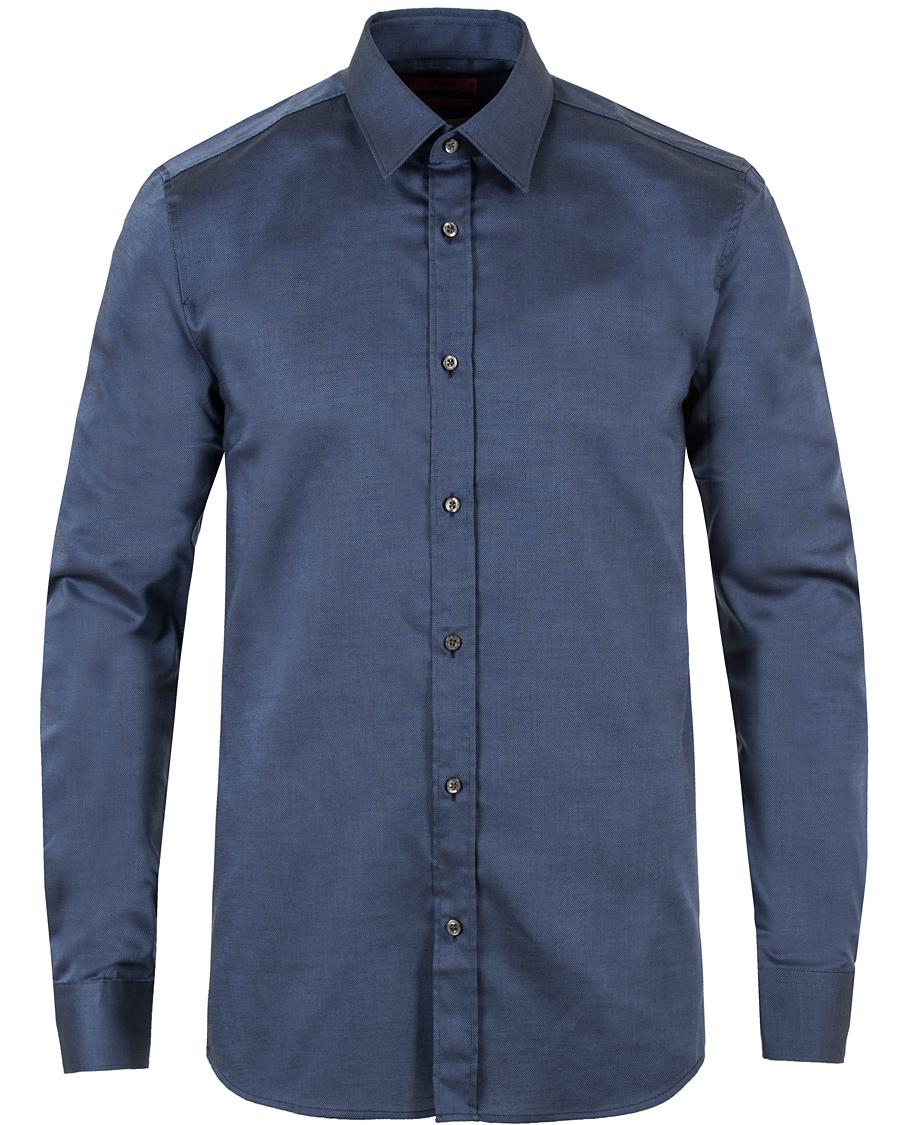 Hugo elisha slim fit shirt navy hos for Navy slim fit shirt