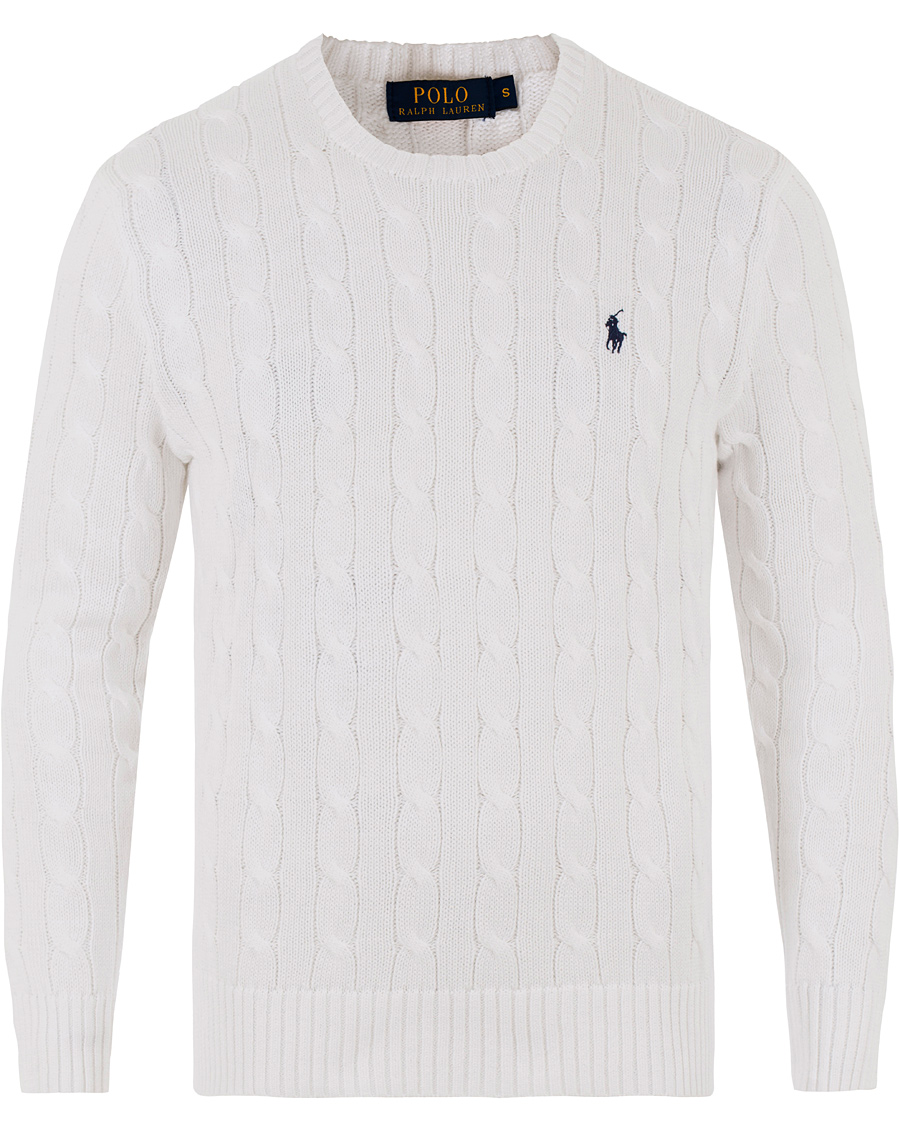 Polo Ralph Lauren Cotton Cable Pullover Collection White