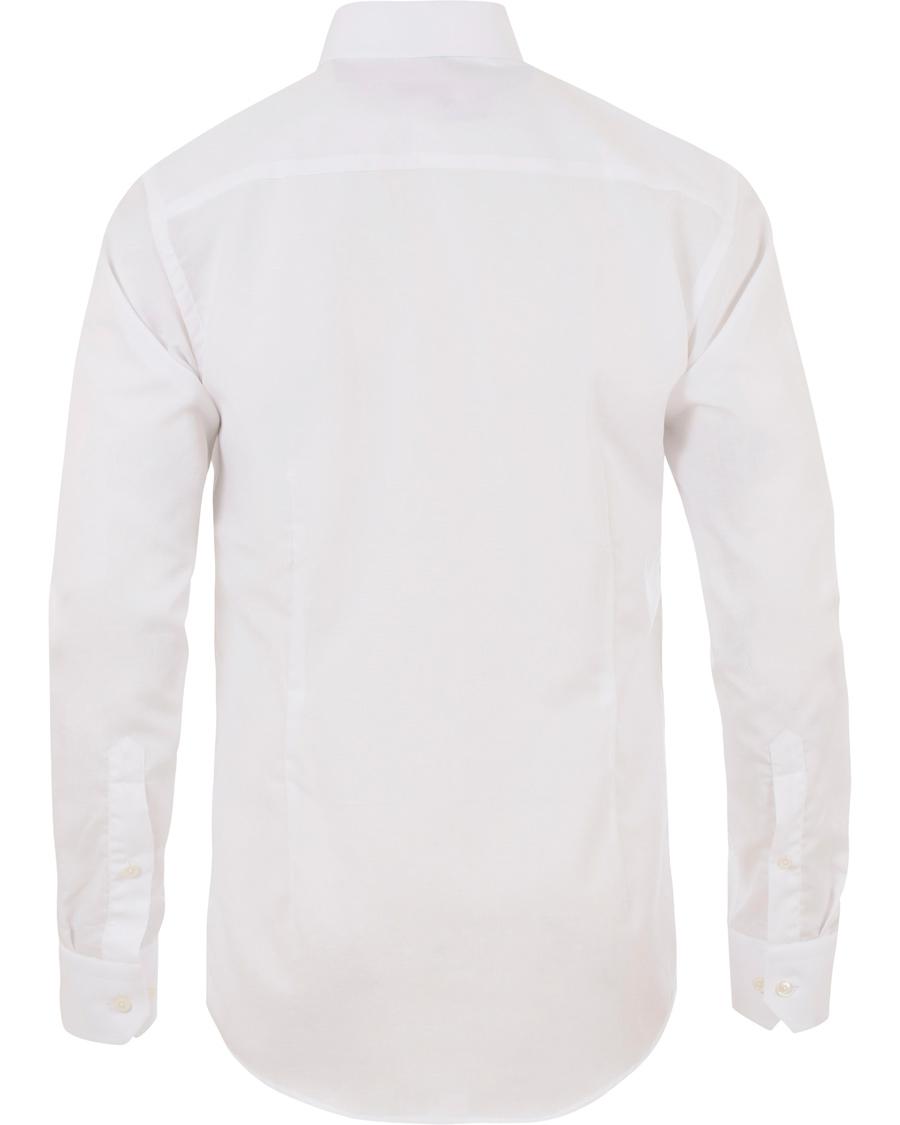 Eton slim fit poplin linen shirt white hos for Slim fit white linen shirt