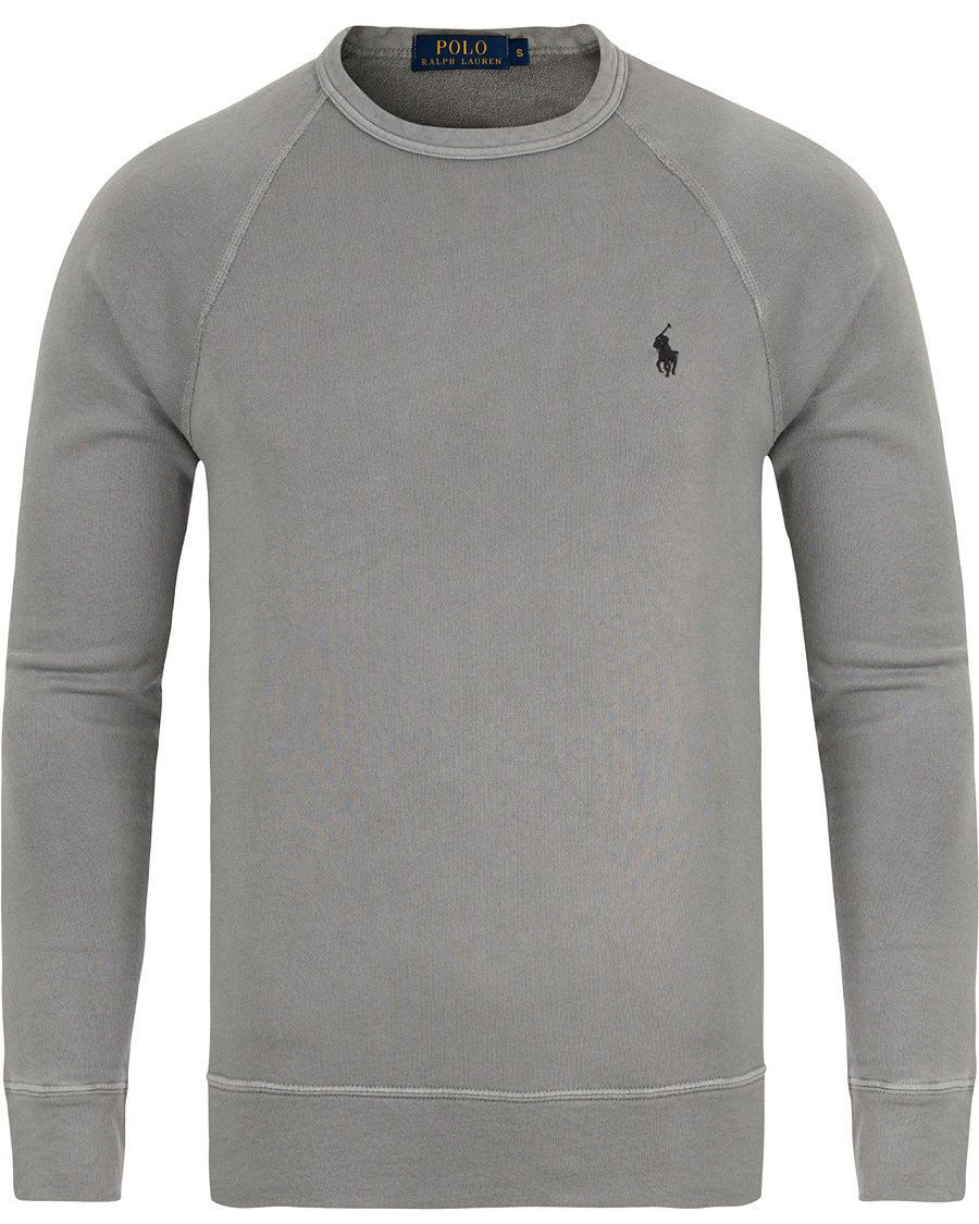 polo ralph lauren spa terry crew neck sweater perfect grey. Black Bedroom Furniture Sets. Home Design Ideas