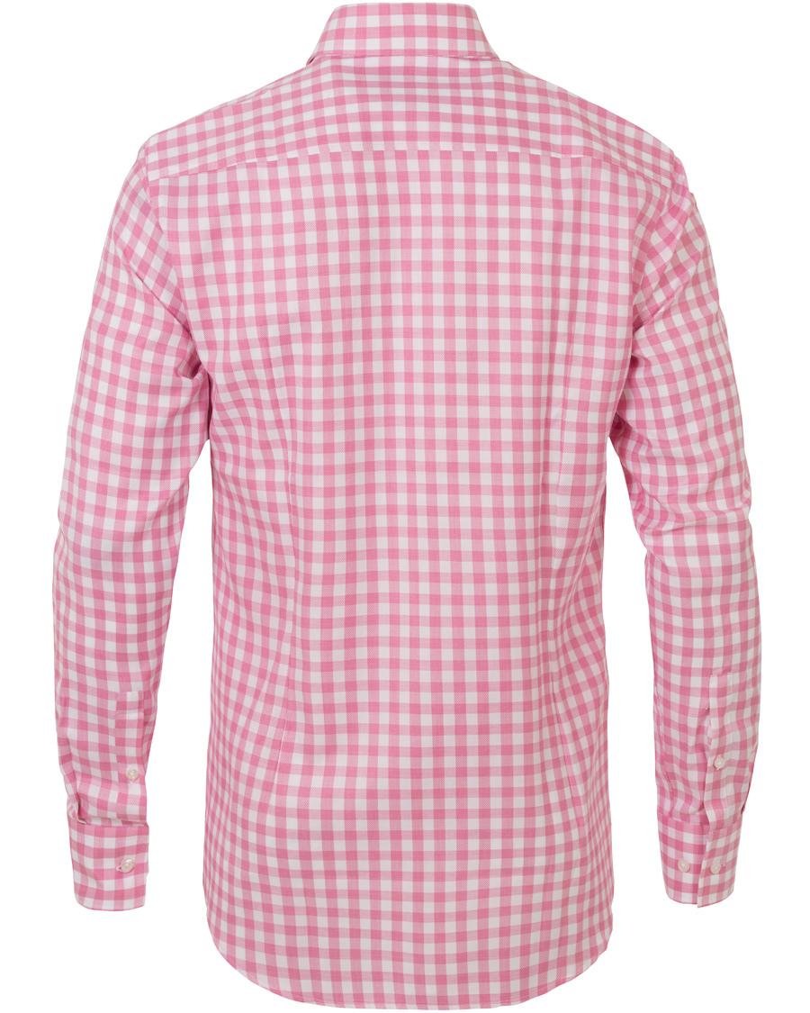 Boss jason slim fit check shirt pink hos for Slim fit check shirt