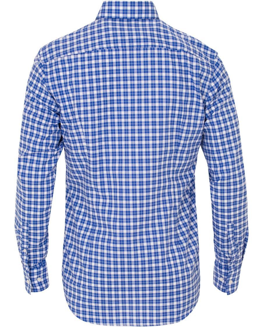 Boss jason slim fit check shirt blue hos for Slim fit check shirt