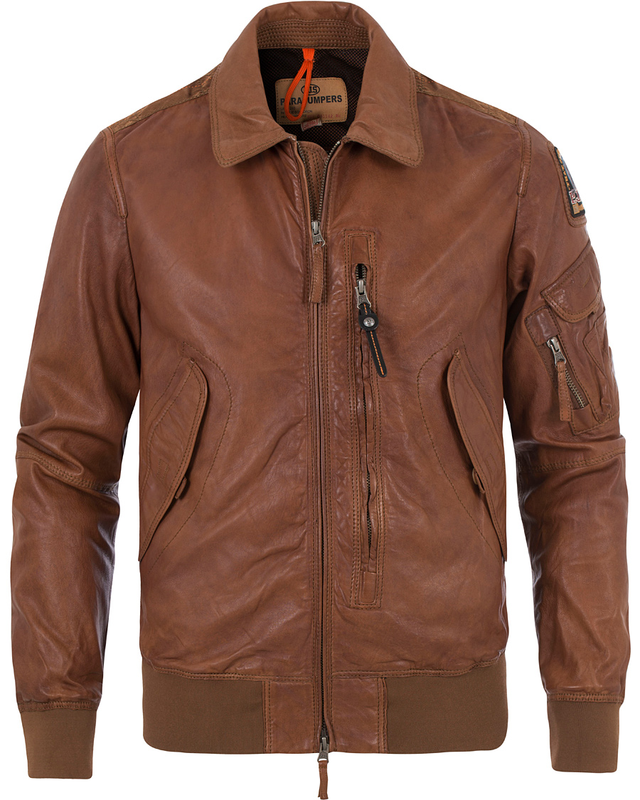 parajumpers brigadier leather jacket
