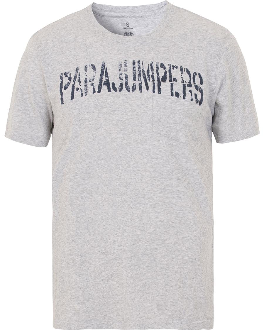 Parajumpers Basic Tee Steel Melange i gruppen Kläder / T-Shirts / Kortärmade t-