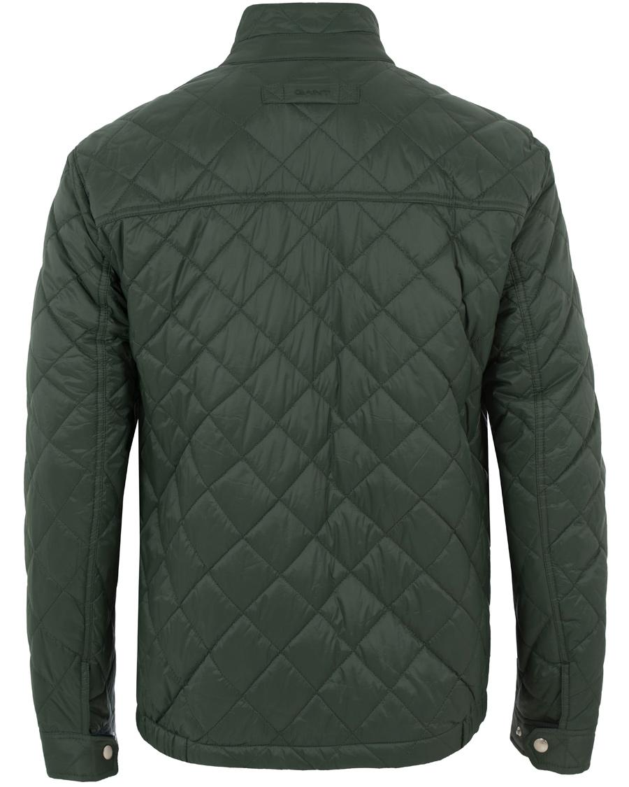 Gant Quilted Windcheater Jacket Pine Green Hos Careofcarl Dk