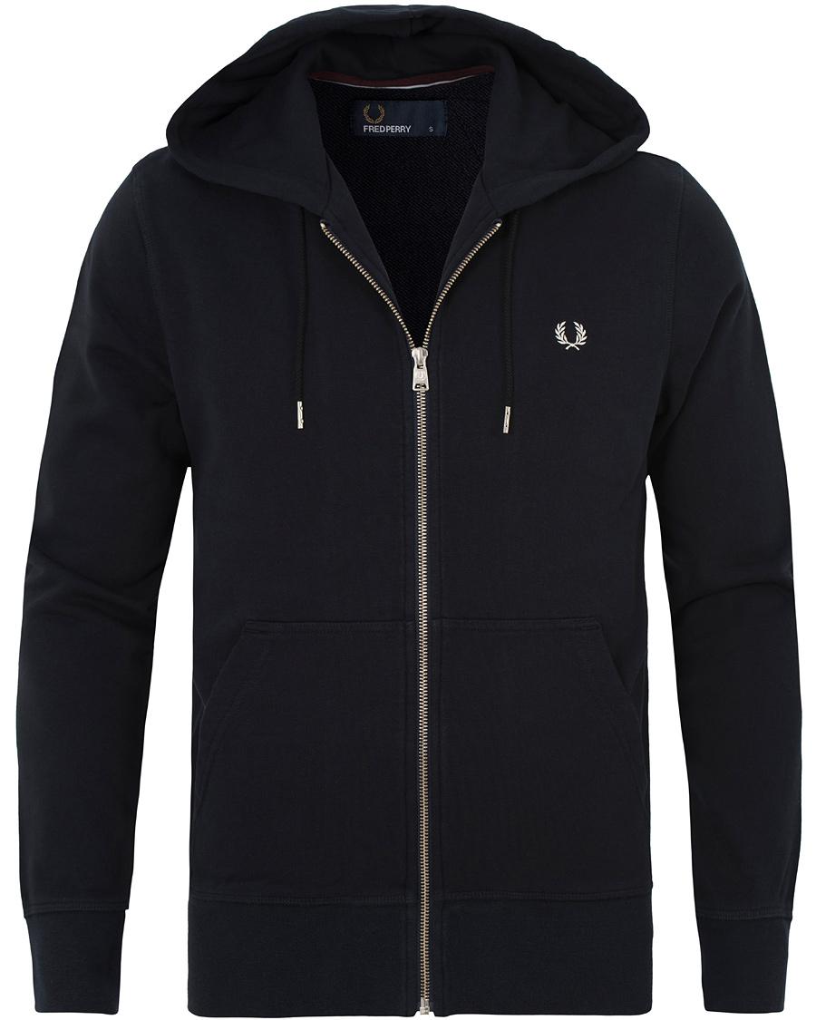fred perry loopback full zip hoodie navy hos. Black Bedroom Furniture Sets. Home Design Ideas