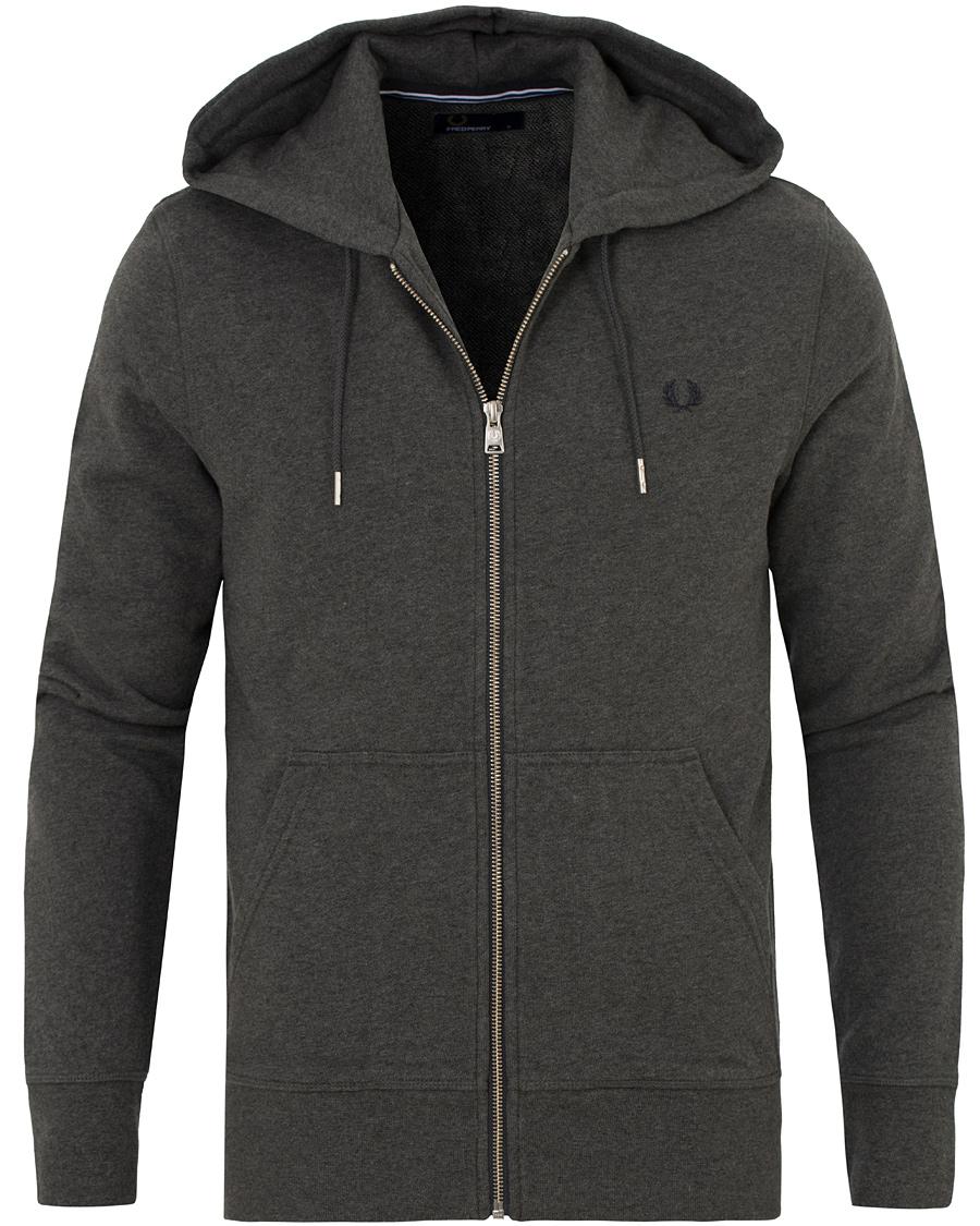 fred perry loopback full zip hoodie graphite marl hos. Black Bedroom Furniture Sets. Home Design Ideas