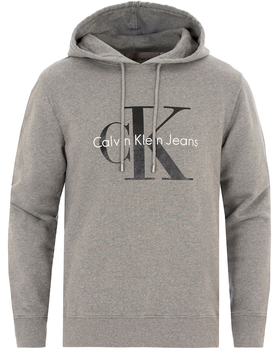 calvin klein true icon hoodie mid grey heather hos. Black Bedroom Furniture Sets. Home Design Ideas