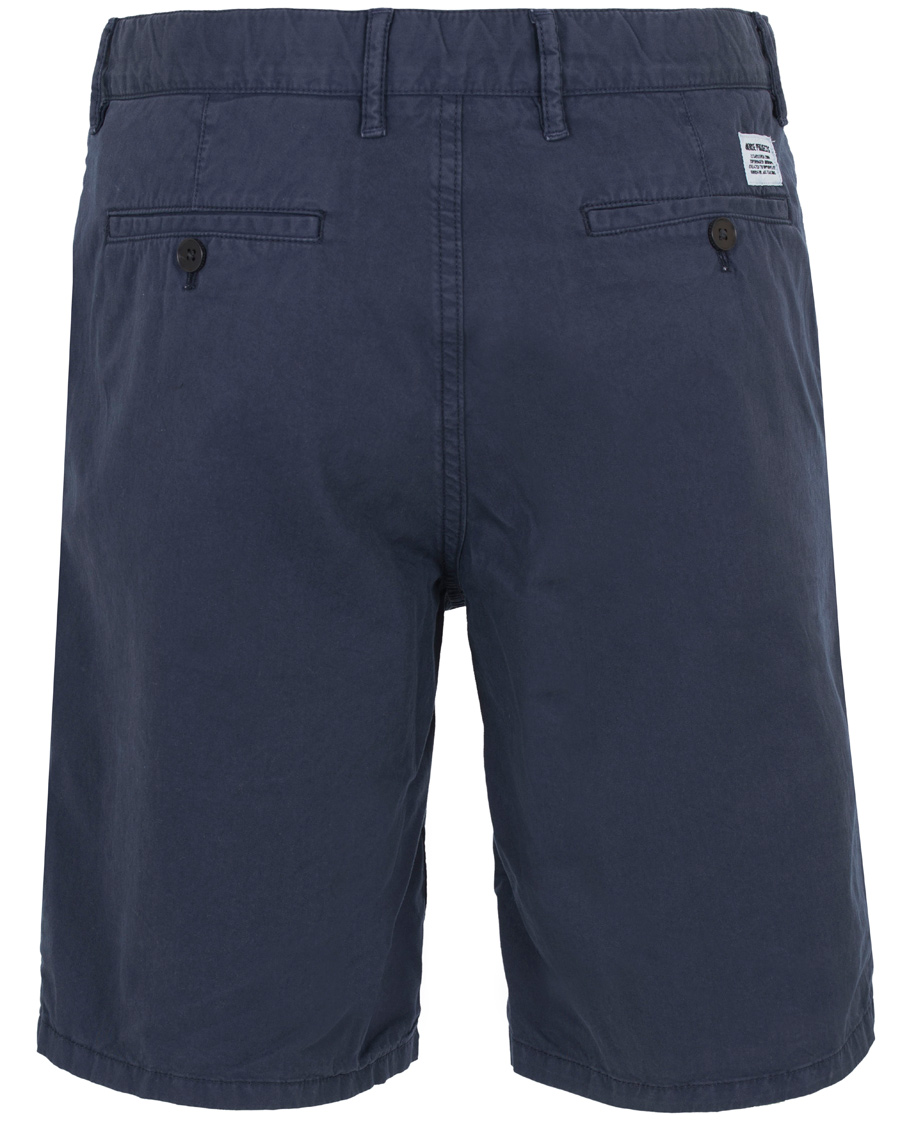 Norse Projects Aros Light Twill Shorts Navy Hos Careofcarl Dk