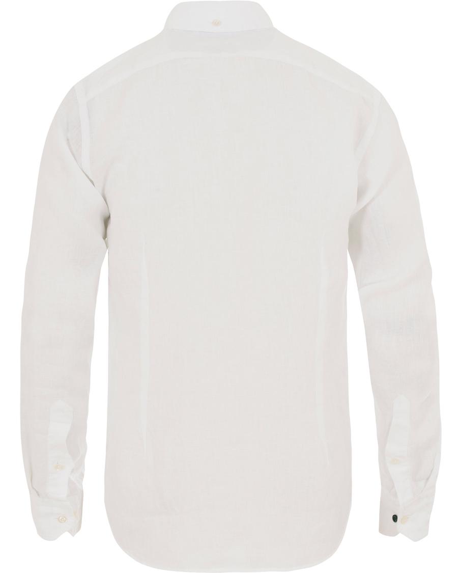 Eton Slim Fit Linen Button Down Shirt White Hos