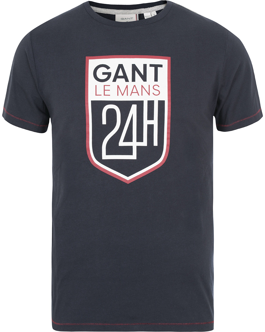 gant le mans shield tee evening blue hos. Black Bedroom Furniture Sets. Home Design Ideas