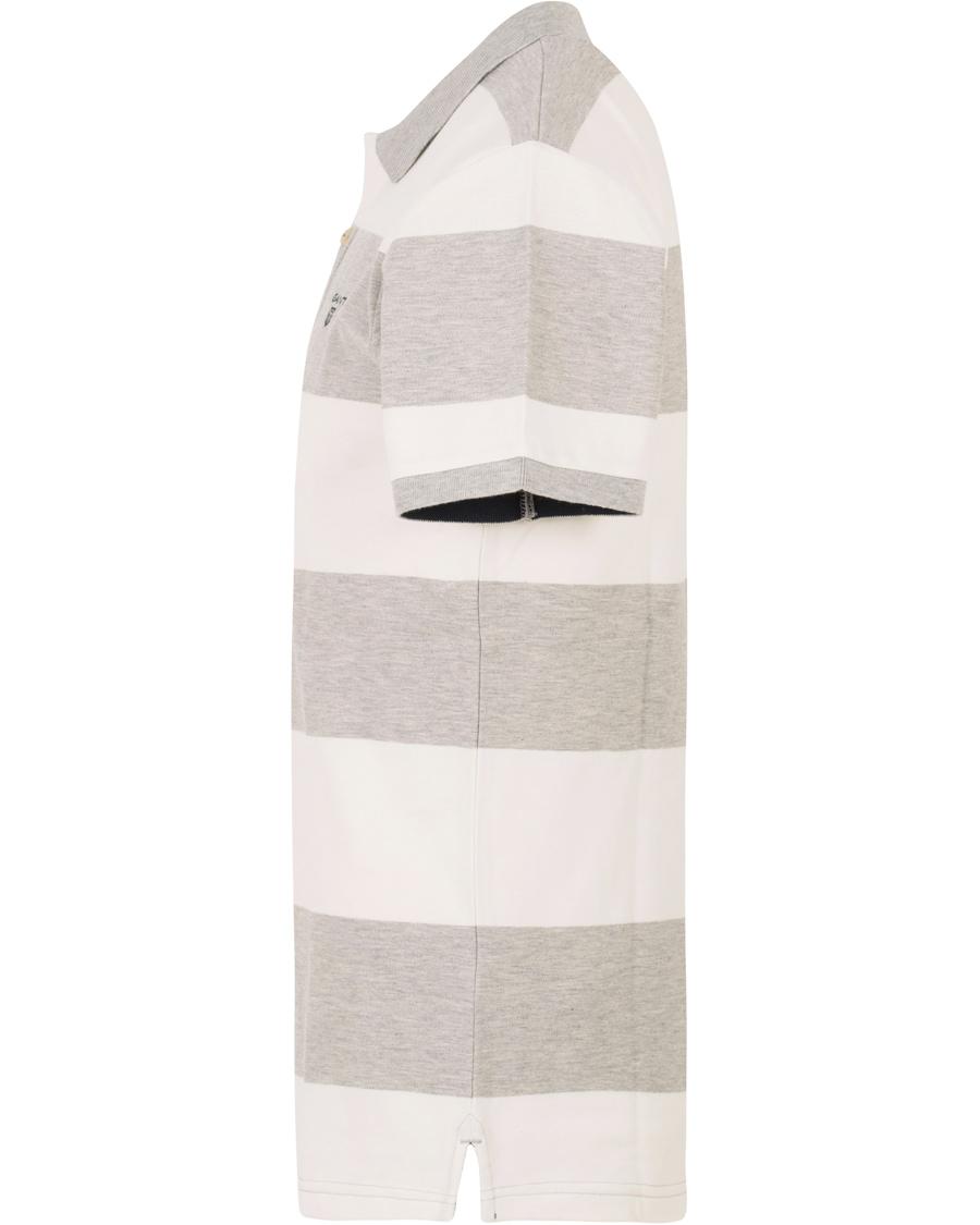 Gant Contrast Colour Barstripe Polo Light Grey Melange Hos